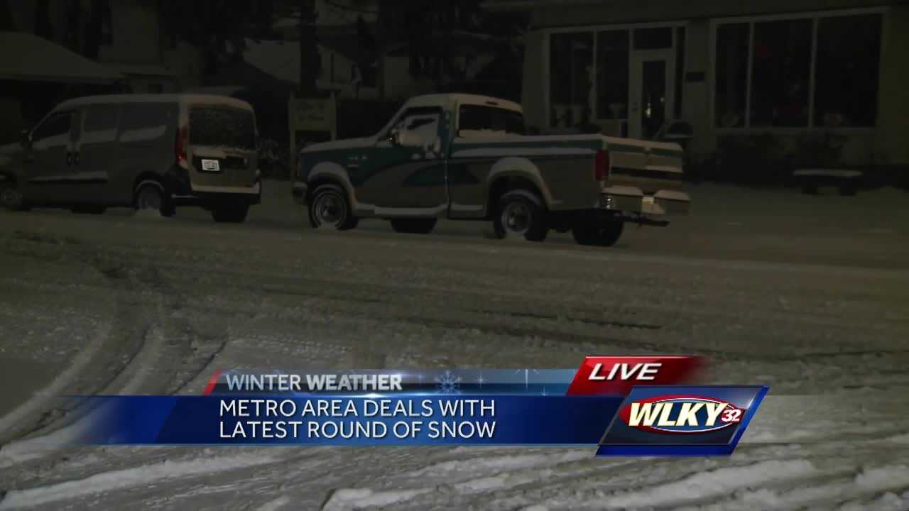 Many people in southern Indiana are digging out Monday morning after weekend snow.