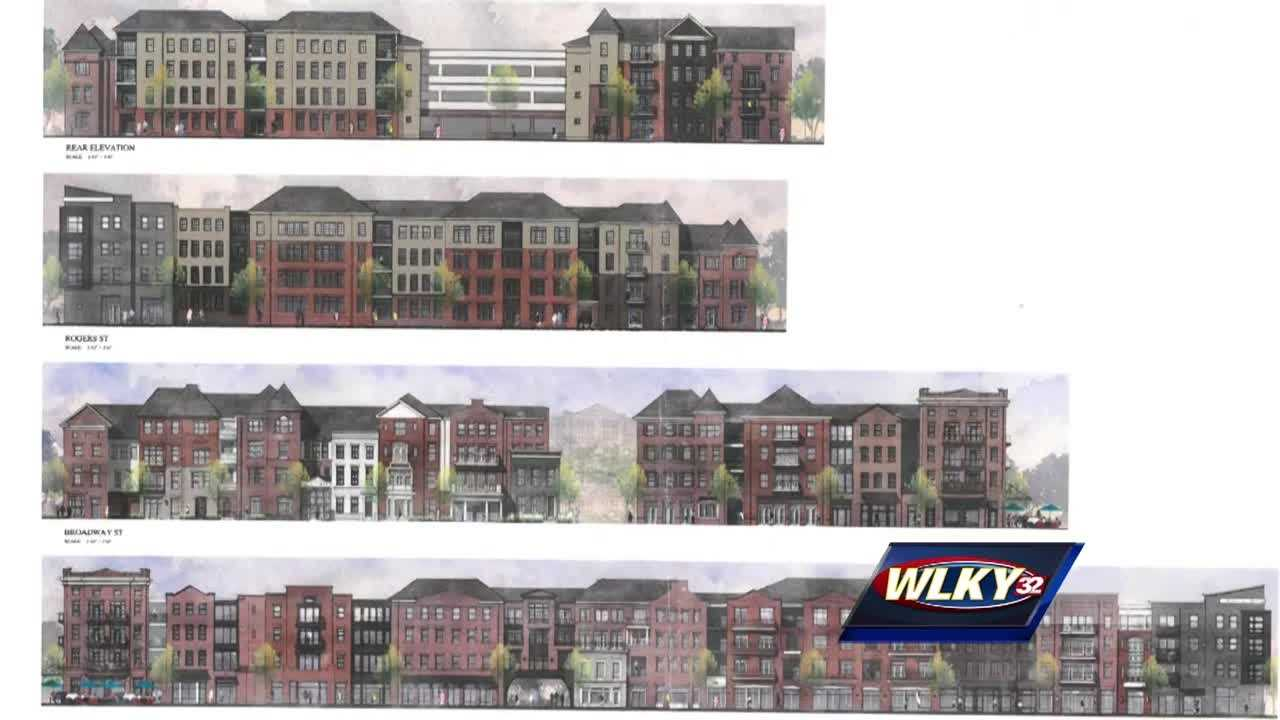 Developers are proposing a four-story, mixed-use project with apartments and a parking garage on Baxter Avenue.