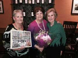 Beulah, Mildred and Martine on their 75th birthday