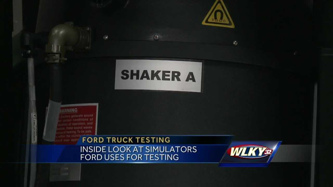 WLKY was able to get an inside look at how Ford tests its trucks using road simulators.