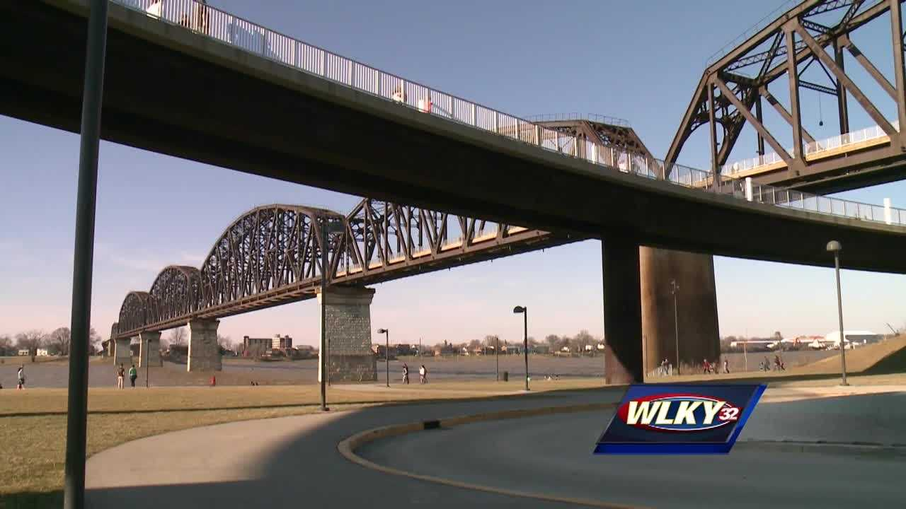 It was a beautiful day Sunday, and hundreds of people were downtown enjoying the Big Four Bridge.
