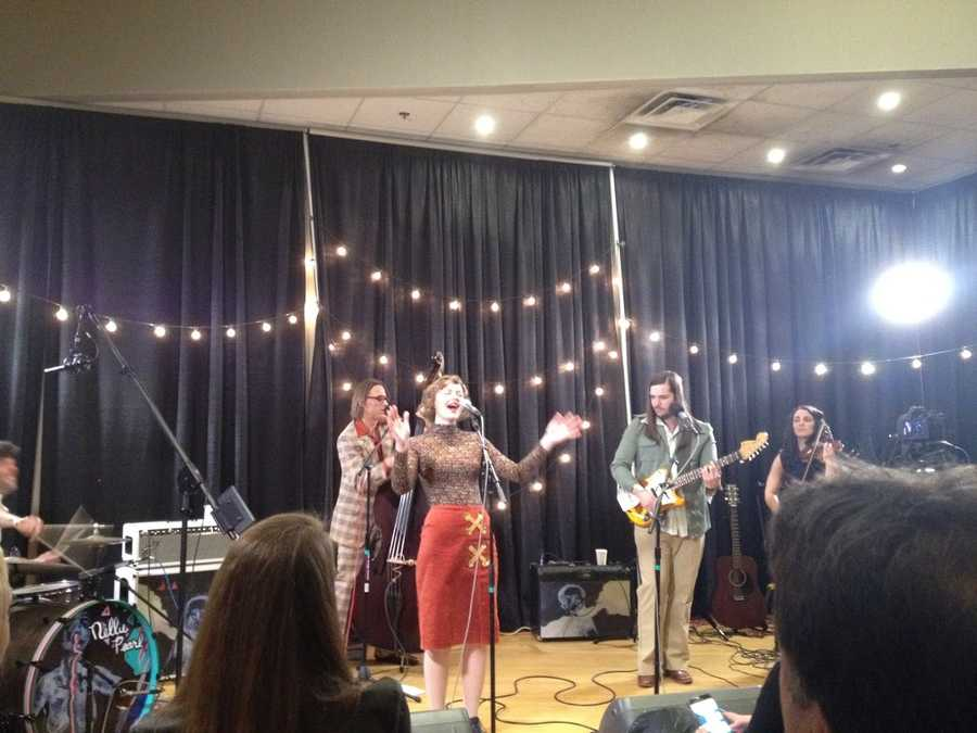 Nellie Pearl performed on WFPK Live Lunch Friday before their album release show at Headliners Music Hall.