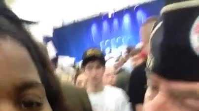 A woman who was pushed around at a Donald Trump rally provided WLKY this video she shot during the altercation