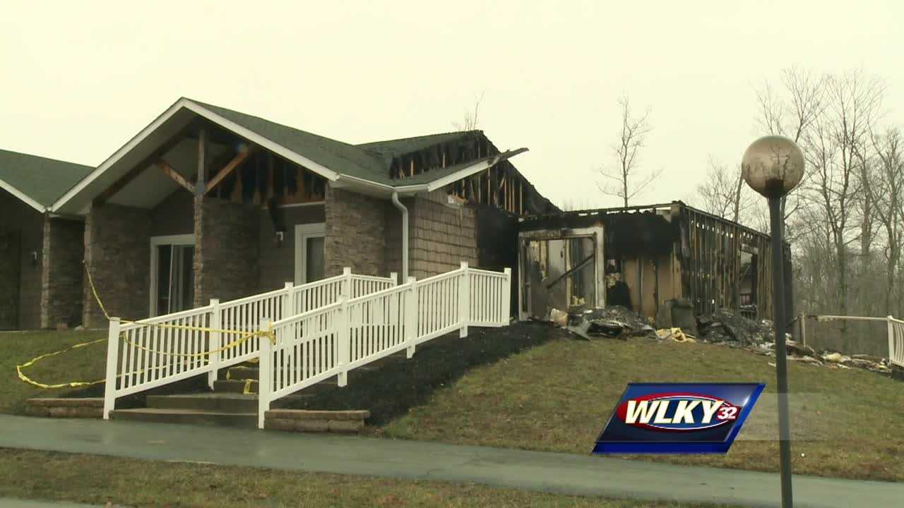 A southern Indiana conference center is rebuilding after a fire ripped through one of its lodges last week.