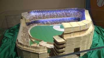 Replica of Yankee Stadium made from 125,000 toothpicks and a lot of Elmer's glue