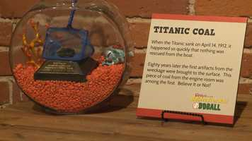 Eight years after the Titanci wreckage, artifacts were brought to the surface. The piece of coal from the engine room was among the first