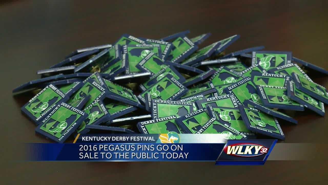 The 2016 Kentucky Derby Festival Pegasus pins go on sale Monday.