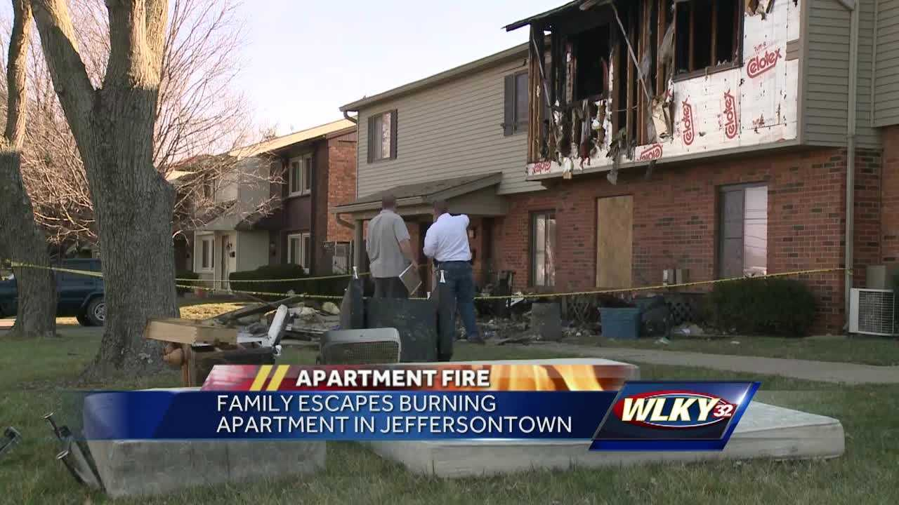 Residents are displaced after a fire in an apartment building in Jeffersontown.
