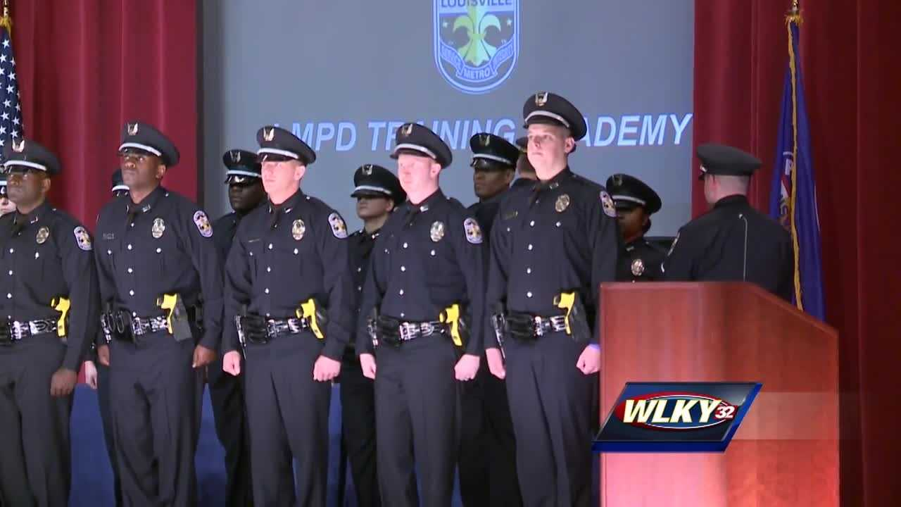 The Louisville Metro Police Department's latest recruit class graduated Thursday.