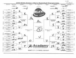 Fred Cowgill's wacky bracket... Fred based his bracket on colors he likes and doesn't like! See a bigger version of Fred's bracket