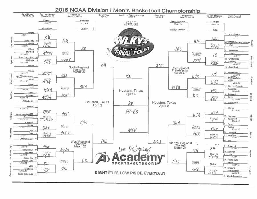 Lee DeJarlais. See a bigger version of Lee's bracket