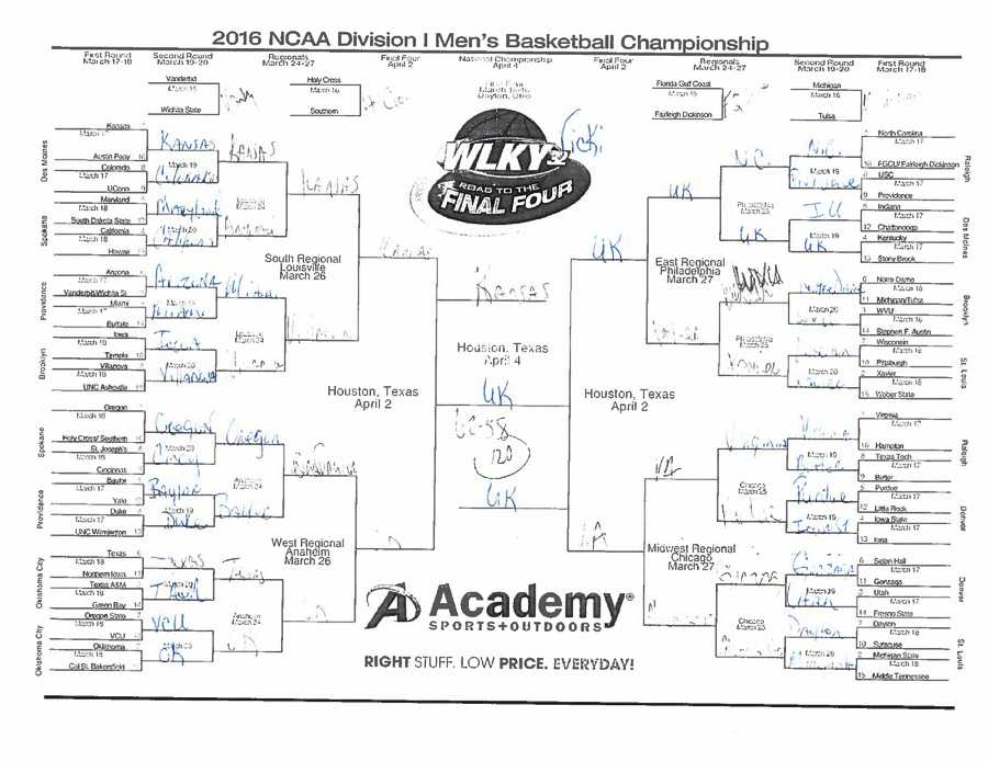Vicki Dortch. See a bigger version of Vicki's bracket
