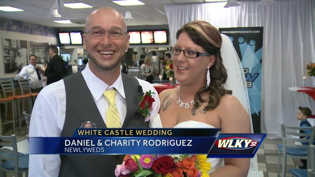 A couple said their wedding vows over the weekend in an unlikely place in downtown Louisville.