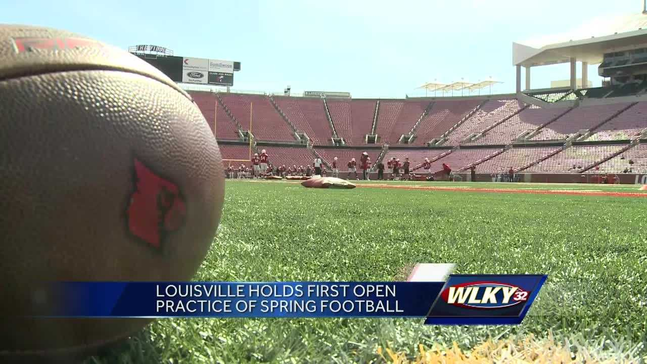 The Cards were back on the field to start spring football in one of the five practices open to fans.