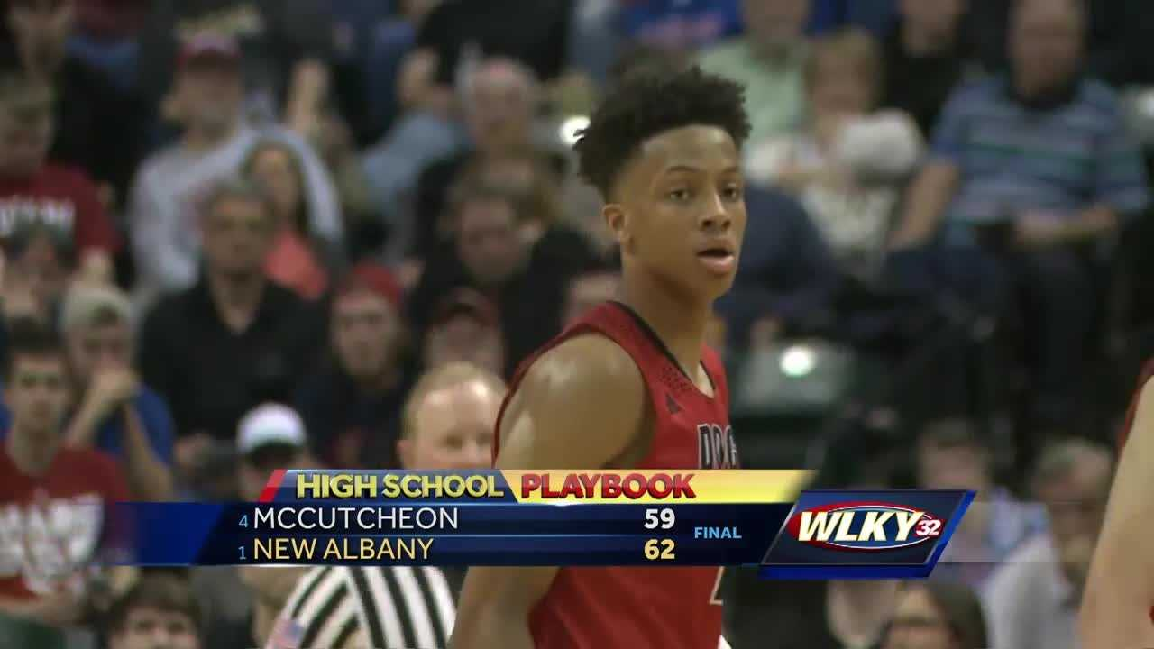 New Albany High School's boys' basketball team are state champions.
