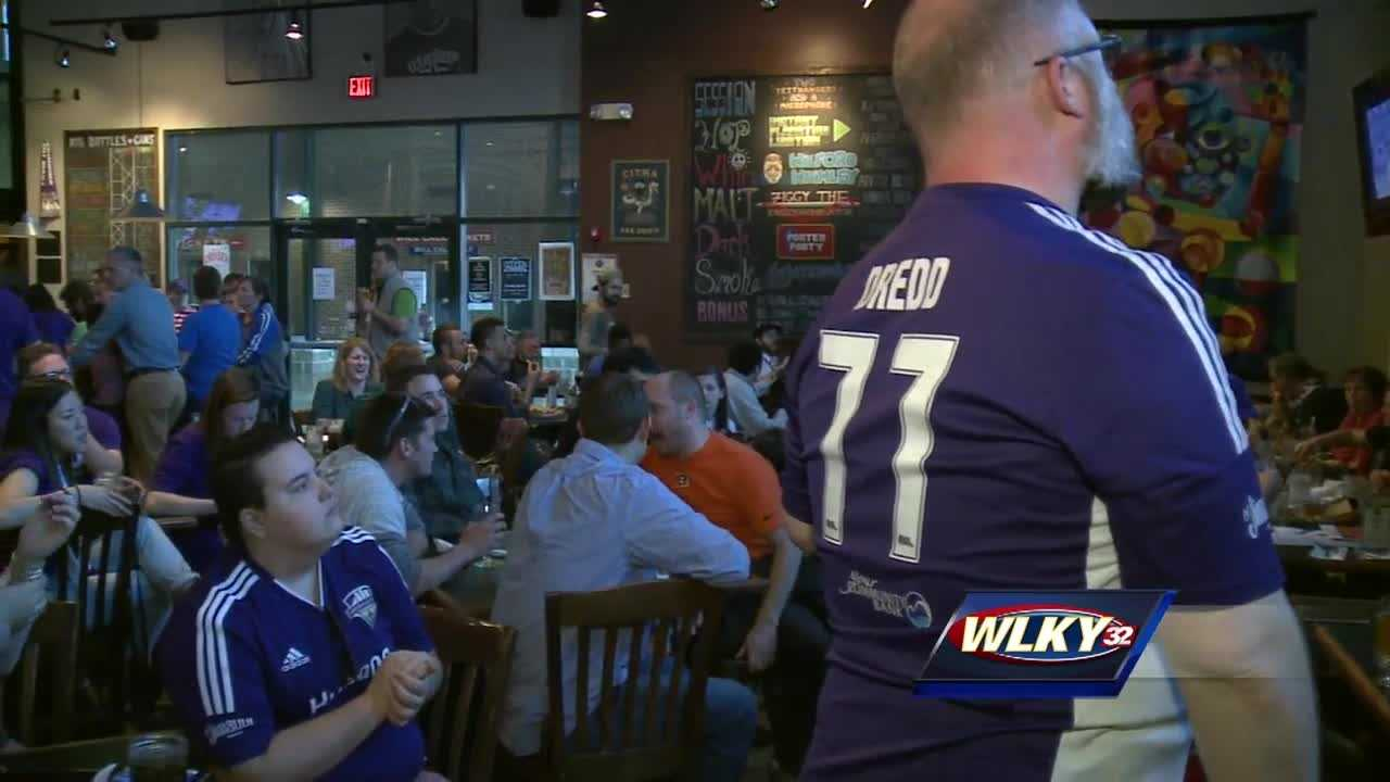 Fans cheer on Louisville City FC in season opener