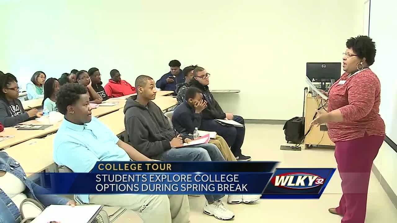 Many students are using their time off for spring break to explore college options.