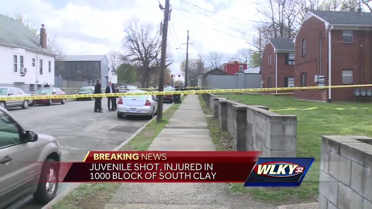 WLKY has been told a juvenile male was shot in the lower part of his body while standing outside an apartment complex near the street.