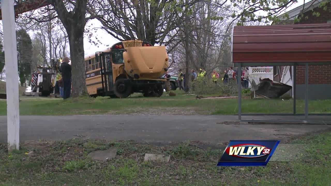 A school bus driver continues to recover after a crash Monday in Hardin County.