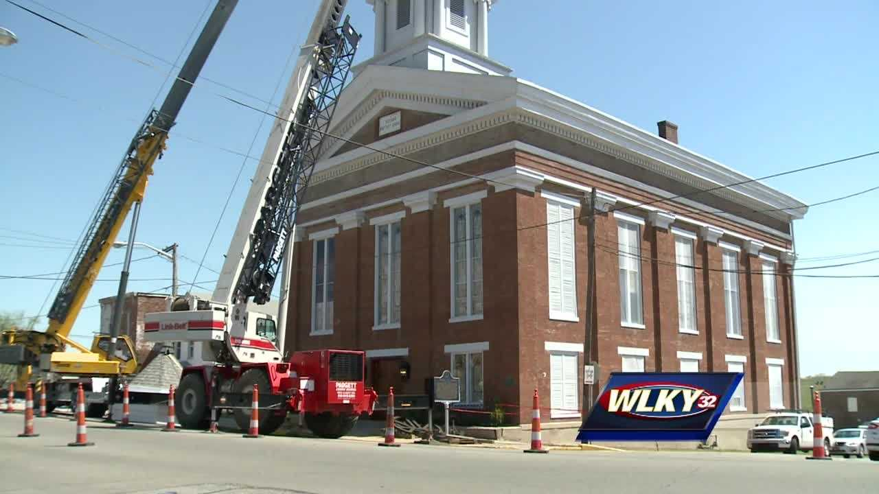 The final phase of the restoration project for the nearly 200-year-old building is literally about to be topped off.