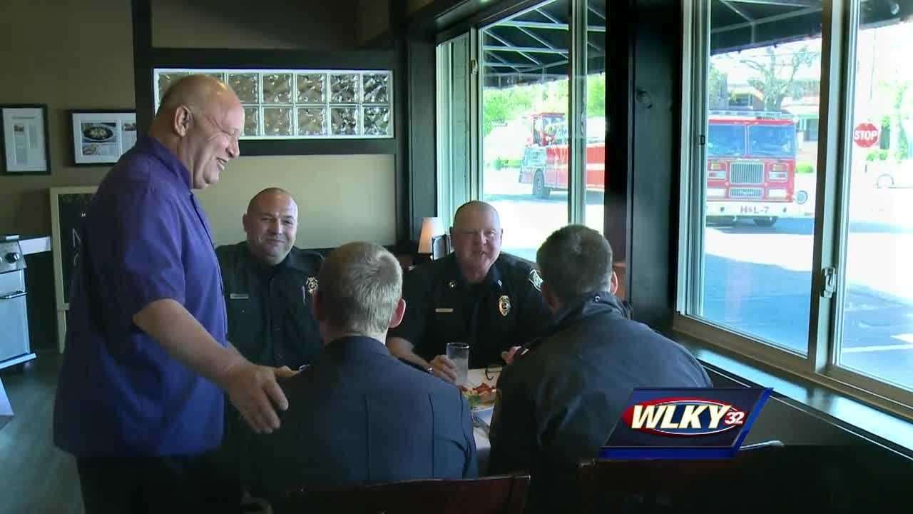 Business damaged by fire hosts appreciation dinner for first responders