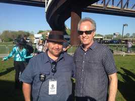 Dennie Humphrey and Mayor Greg Fischer at GonzoFest 2016