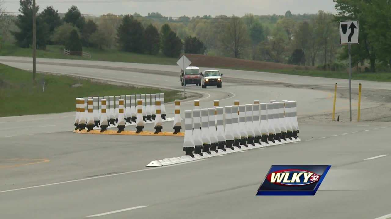 The Kentucky Transportation Cabinet installed a new median barrier at the corner of Patriot Parkway and Deckard School Road.