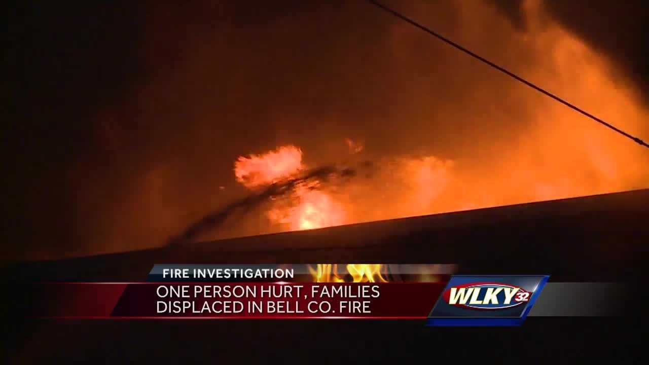 One person was hurt and multiple families were displaced after a fire broke out in Bell County.