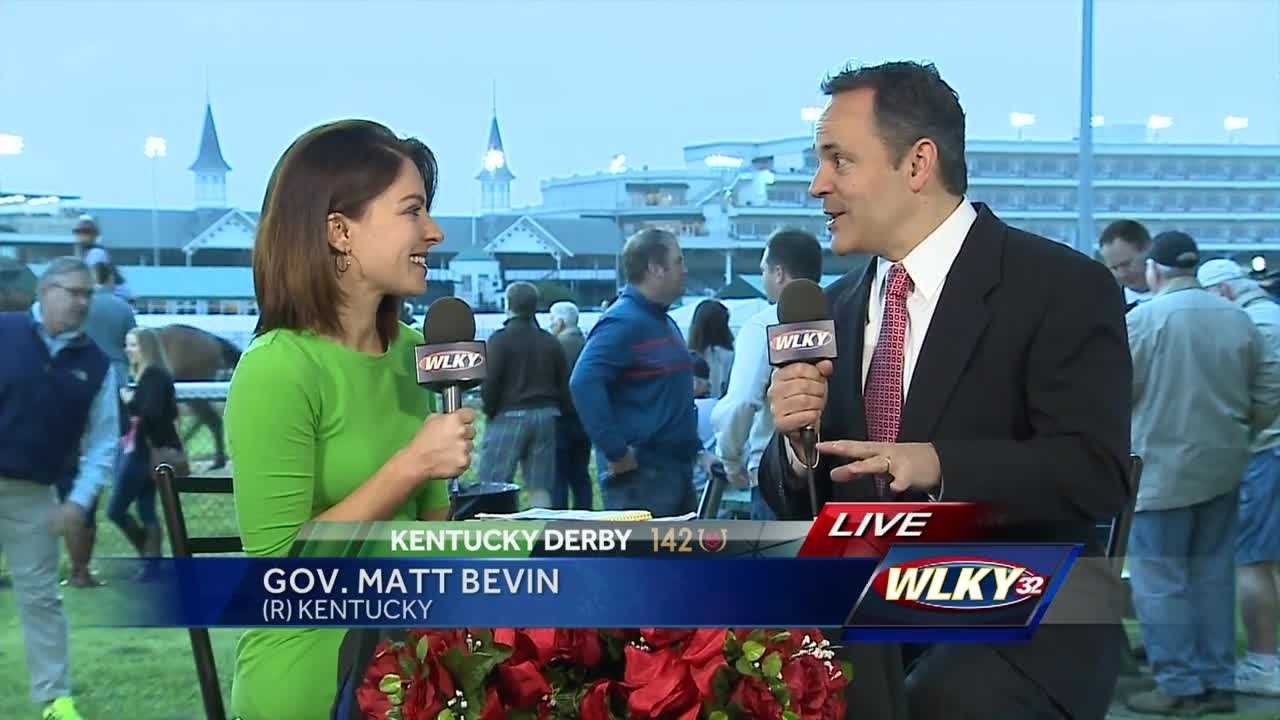 WLKY's Christina Mora spoke to Kentucky Gov. Matt Bevin about the Kentucky Derby.