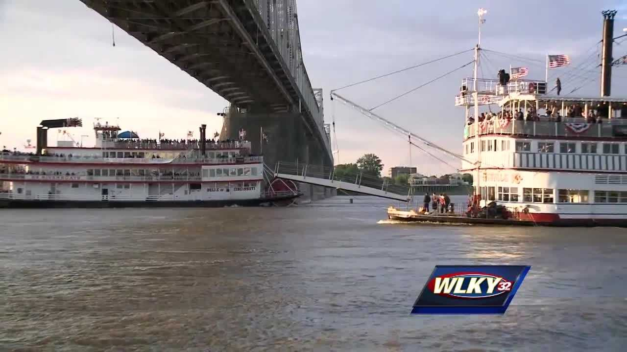 Belle of Cincinnati edges out Belle of Louisville in Great Steamboat Race