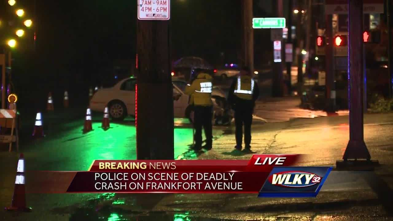 Police are on the scene of a deadly crash on Frankfort Avenue.