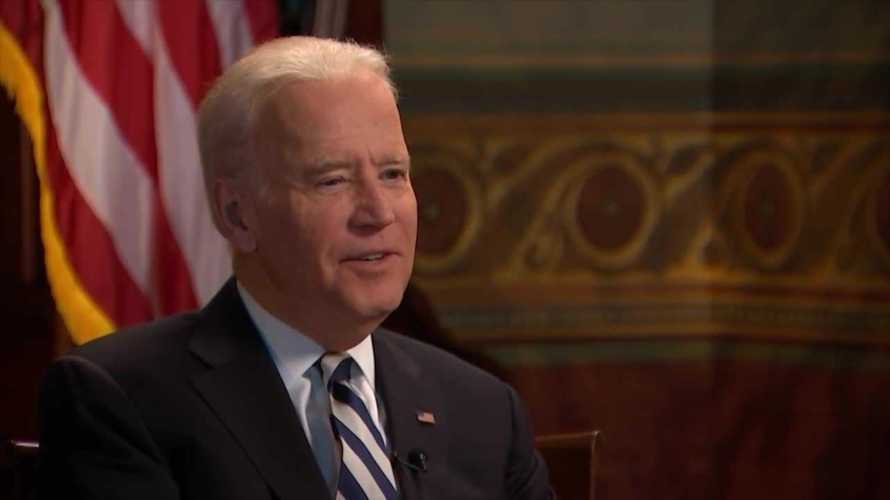 WLKY's Vicki Dortch asks Vice President Joe Biden about President Barack Obama's Supreme Court nominee, Merrick Garland, during an interview in Washington, D.C.