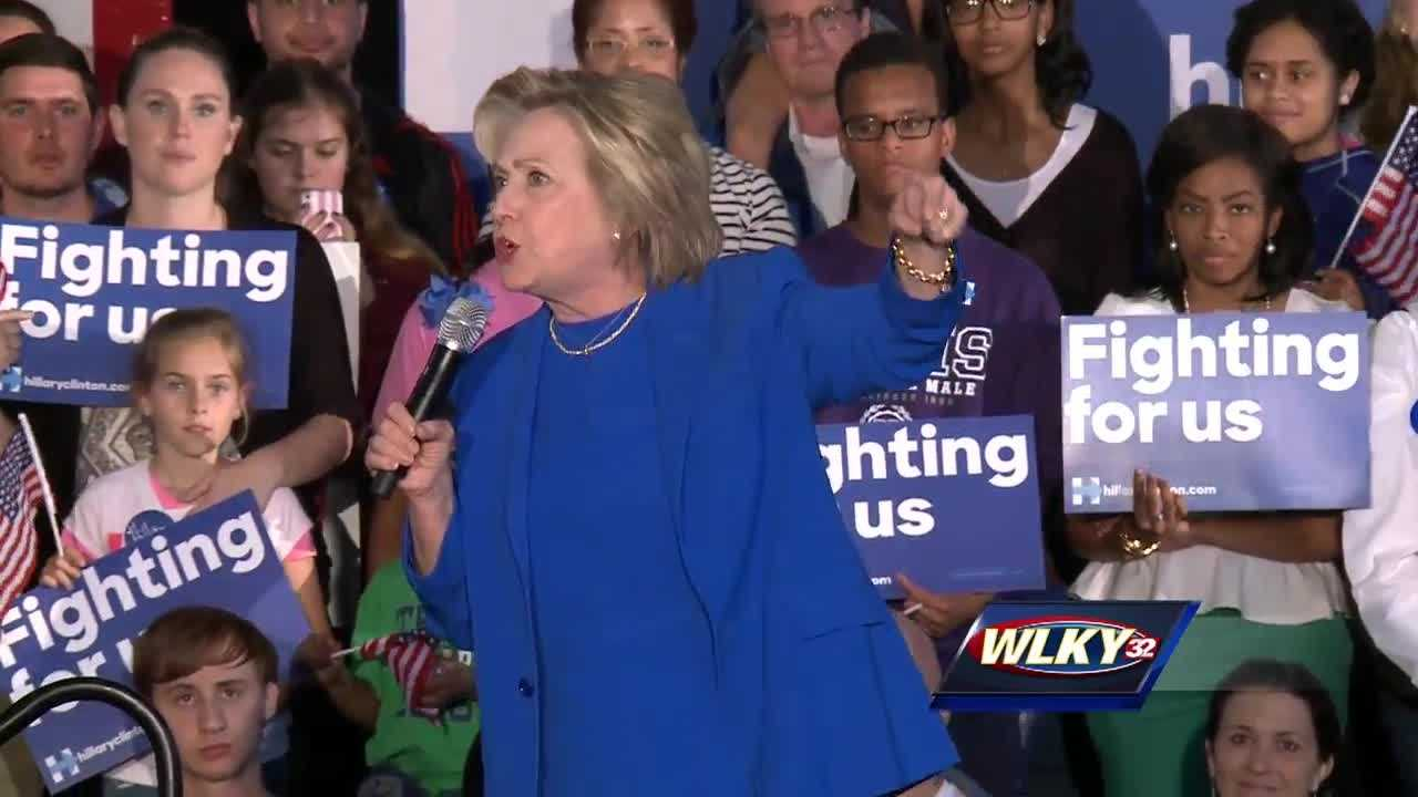 Largely she focused on her plans to rebuild the middle class and get Kentuckians back to work at higher wages.