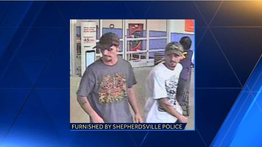 Shepherdsville police searching for two theft suspects.