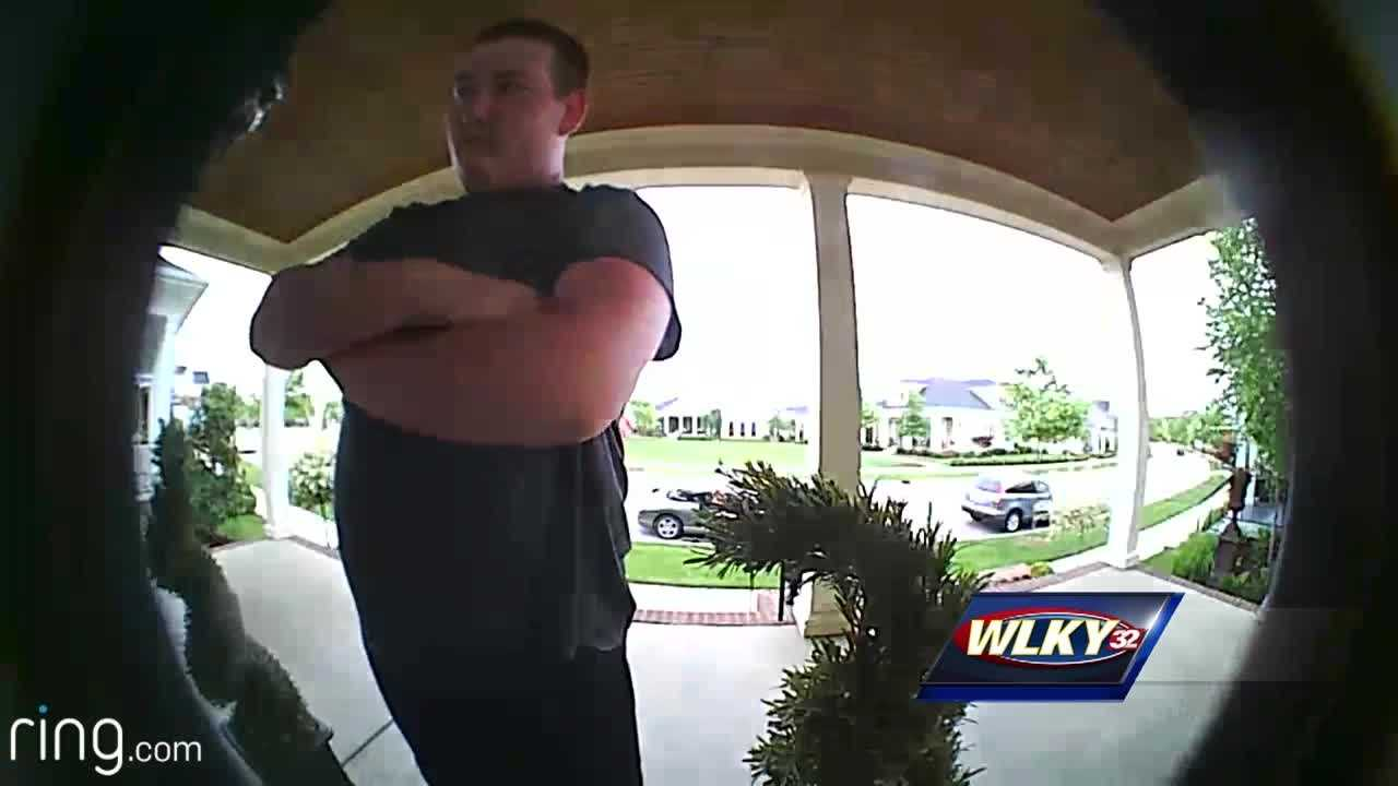 Louisville police believe a homeowner's surveillance camera will help them nab a couple, who is stealing packages.