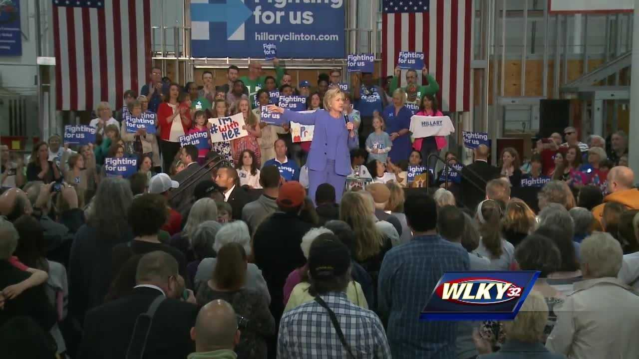 Hillary Clinton returns to Kentucky ahead of Tuesday primary