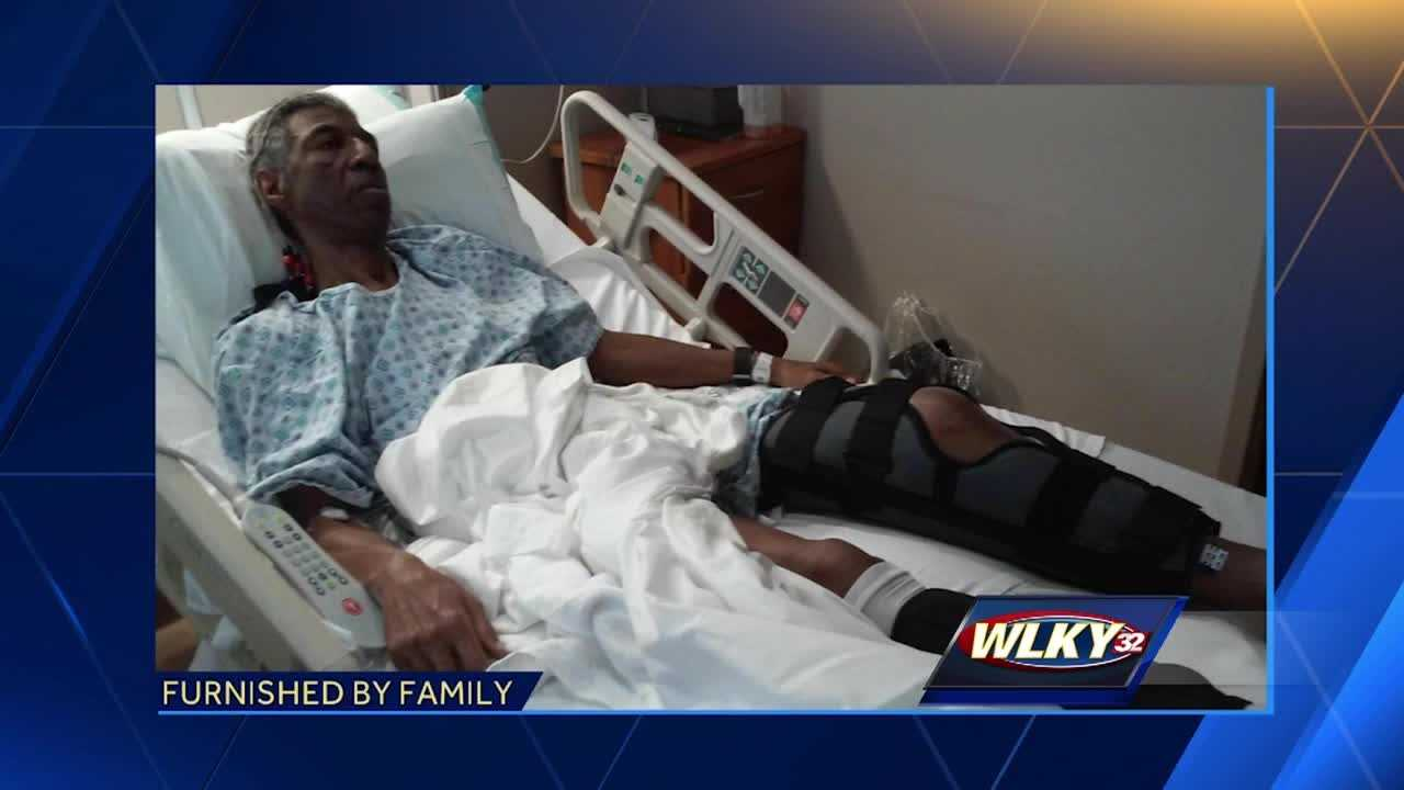 A family is searching for the driver who hit a 61-year-old veteran while he was walking to a Speedway on Terry Road.