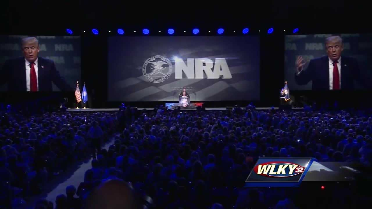 Donald Trump speaks on first day of NRA convention
