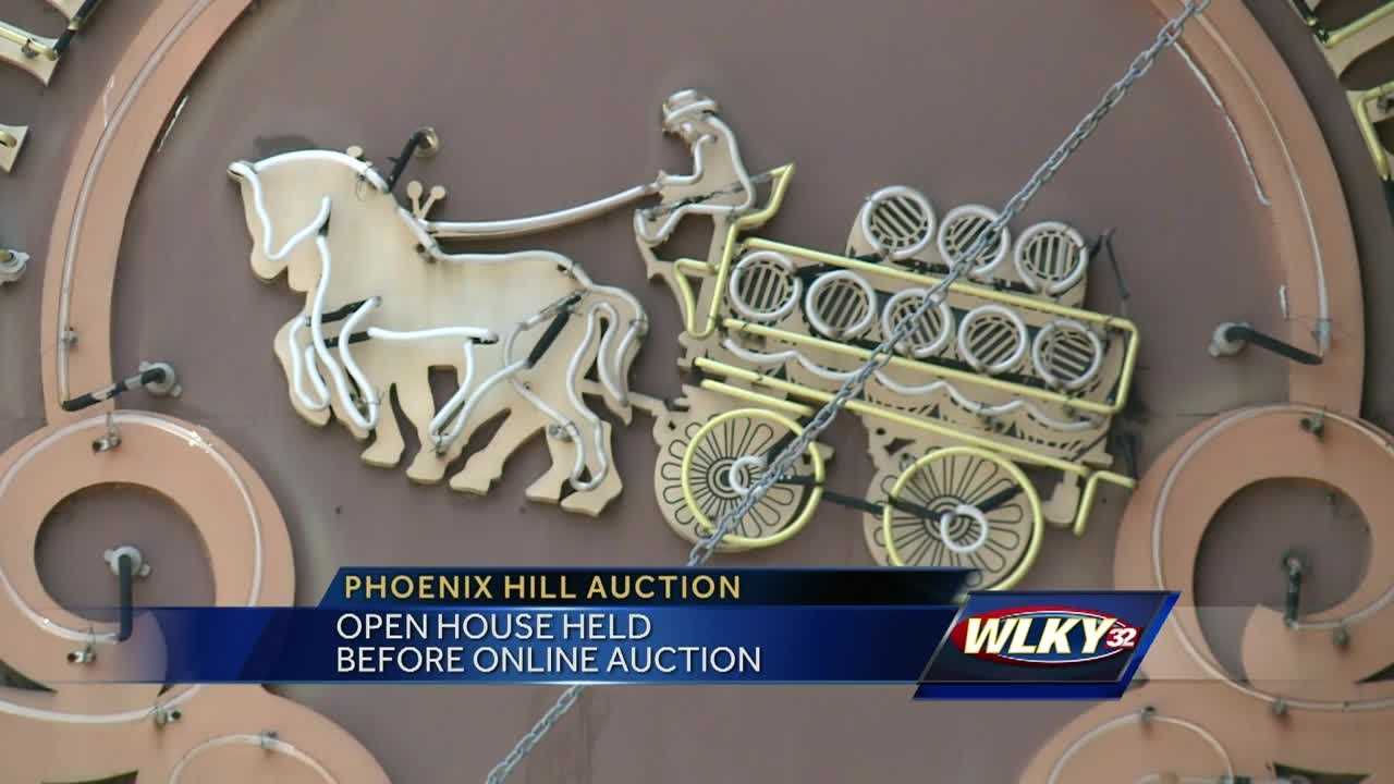 Nearly 40 years of history is up for auction at the closed Phoenix Hill Tavern, including its sign.An open house was held Sunday, giving people a chance to peruse the thousands of items. People will then have a chance to make a bid on line.There are so many things up for sale that the auction will take place over three months, in four phases. The first phase includes furnishings in the saloon, piano parlor and living room.To learn more about the auction, or to make a bid on one of the items visit: http://www.wardlowauc.com/