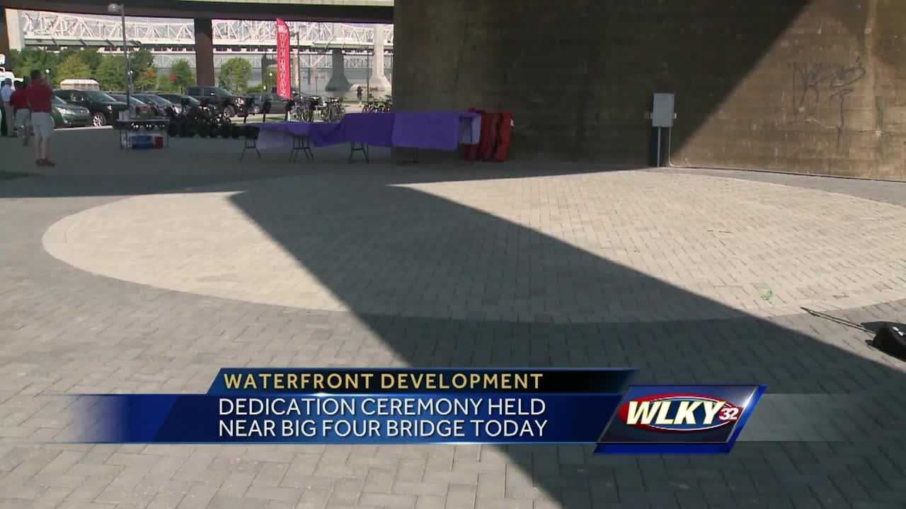 Community leaders held a dedication ceremony at the Big Four Bridge Saturday.