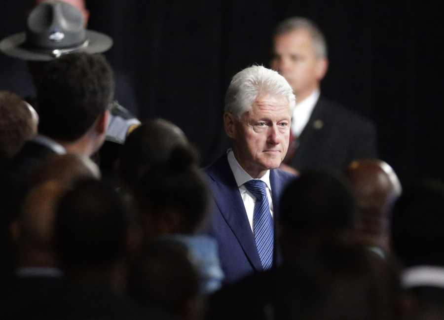 Bill Clinton at Muhammad Ali memorial service