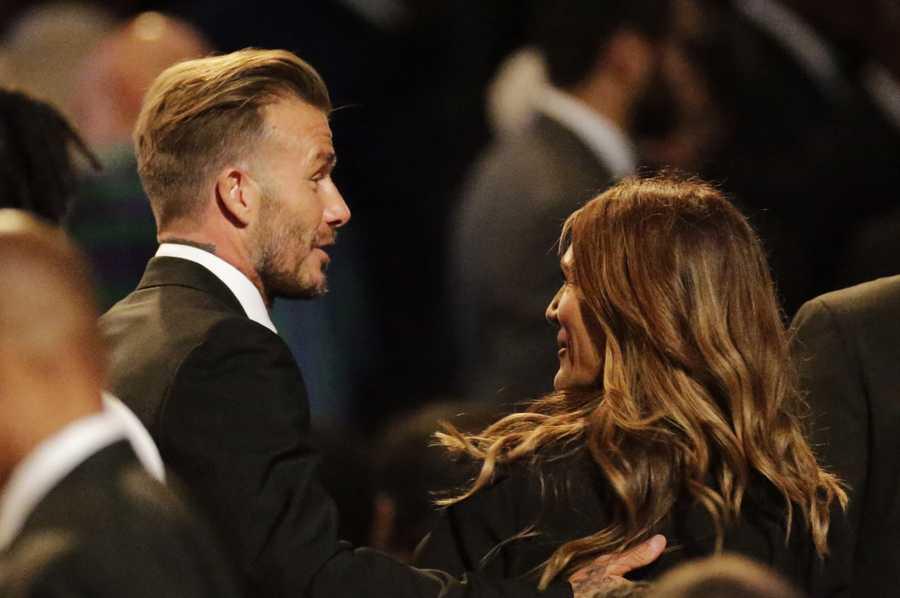 David Beckham at Muhammad Ali memorial service