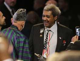 Don King at Muhammad Ali memorial service