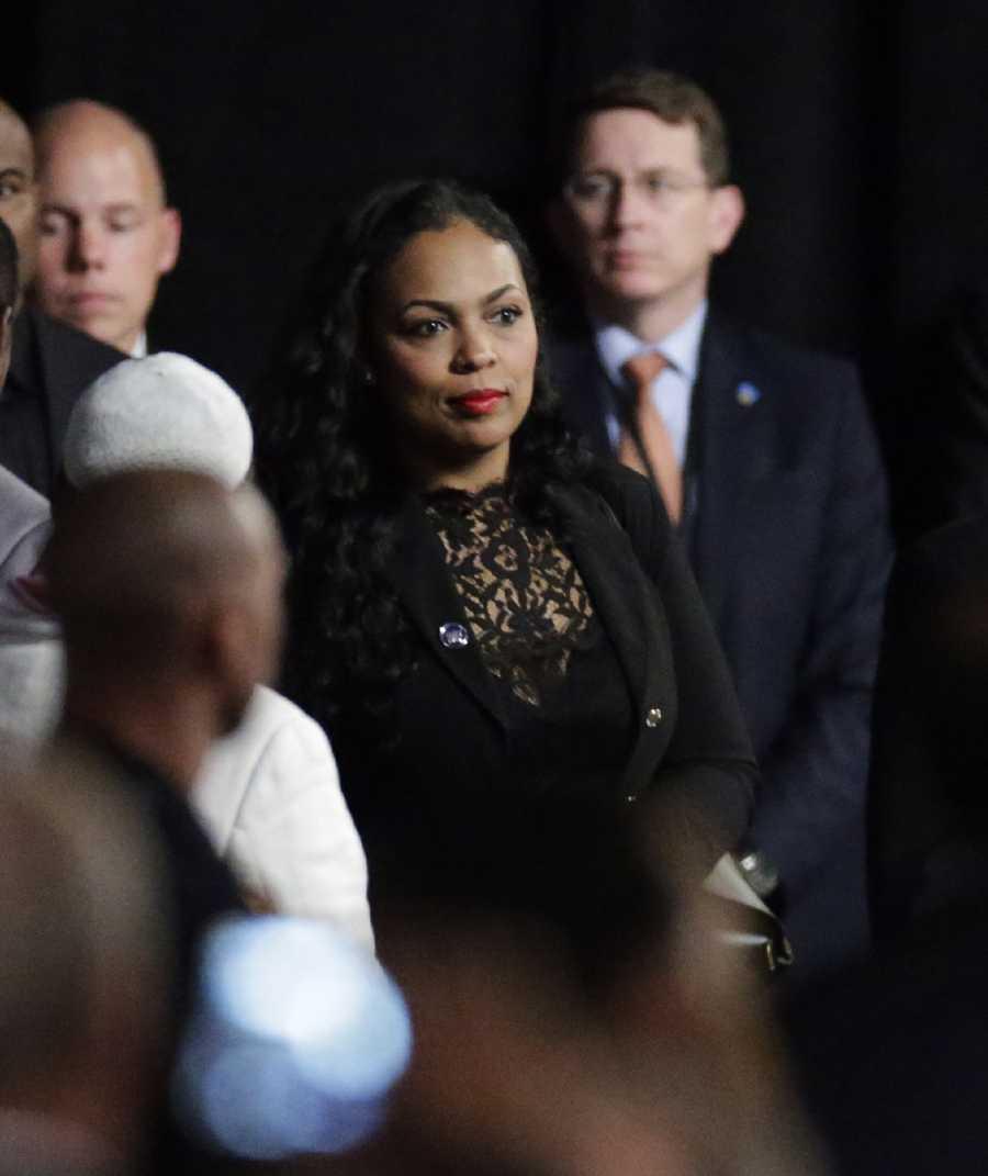 Hana Ali at Muhammad Ali memorial service