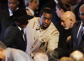 Spike Lee with Hamid Karzai at Muhammad Ali memorial service
