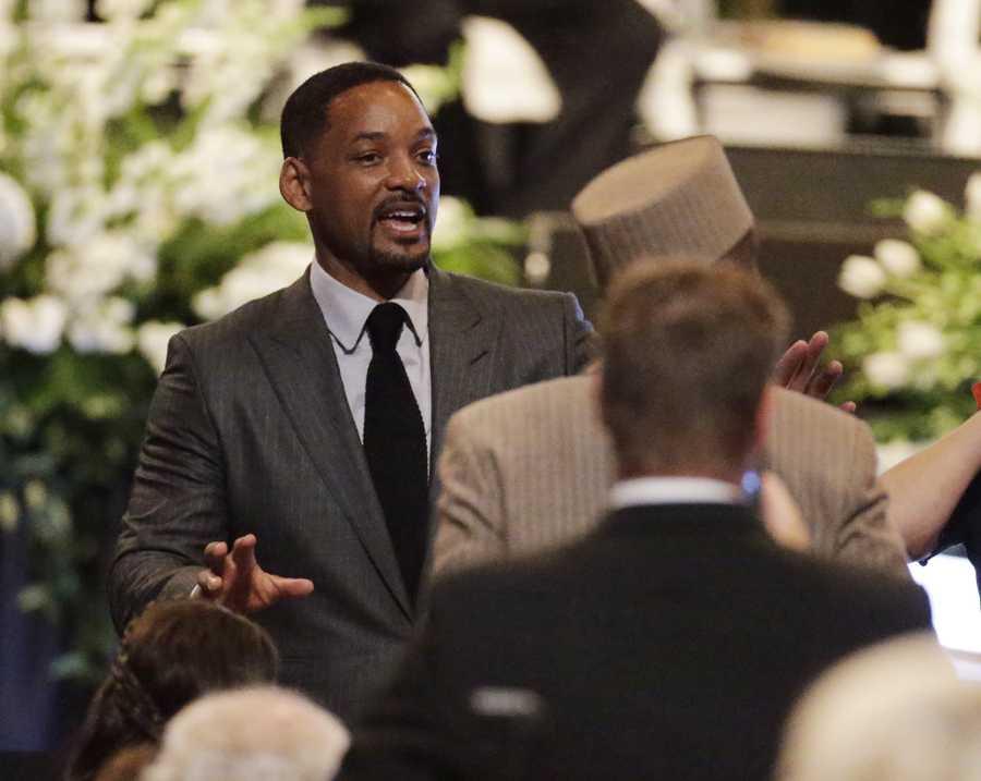 Will Smith at Muhammad Ali memorial service