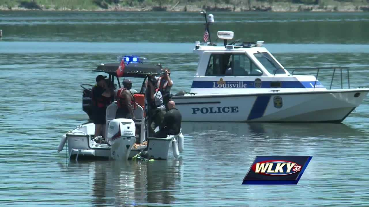 Dive teams are searching for the body of a 48-year old father from Louisville who went overboard Sunday afternoon at Taylorsville Lake.
