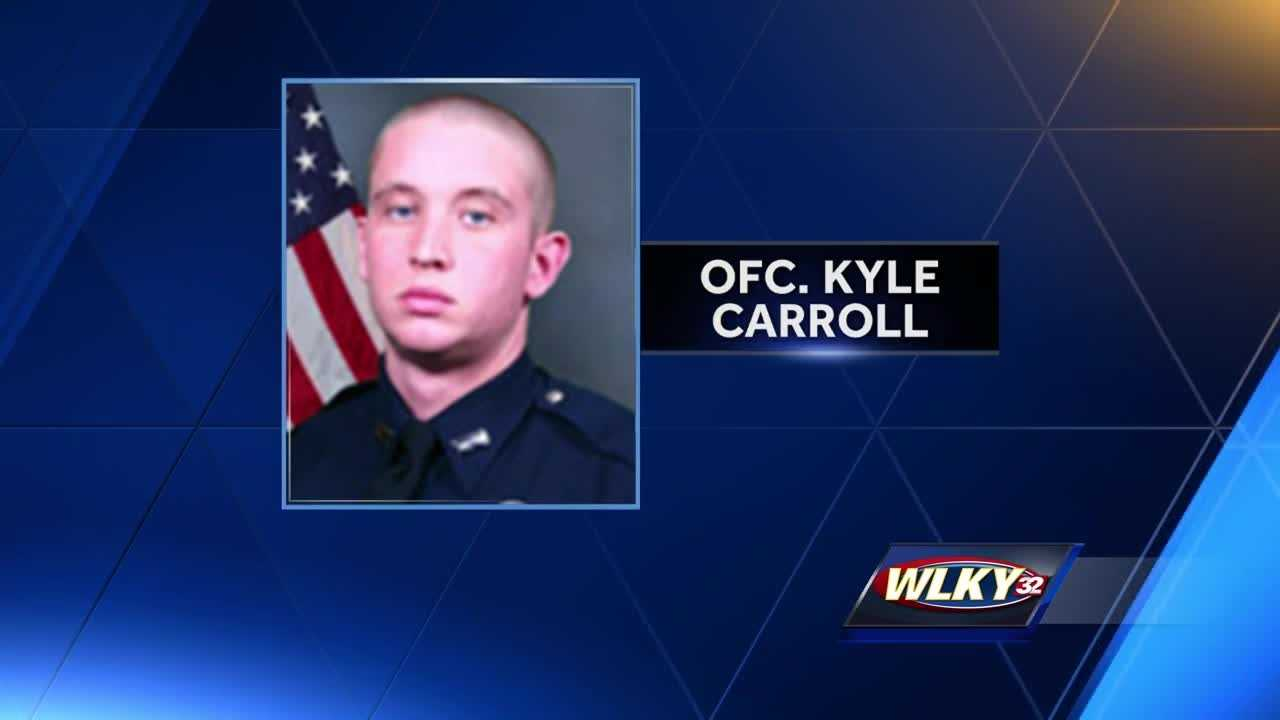 Officer Kyle Carroll's commanding officer said the bullet resistant vest he was wearing saved his life.