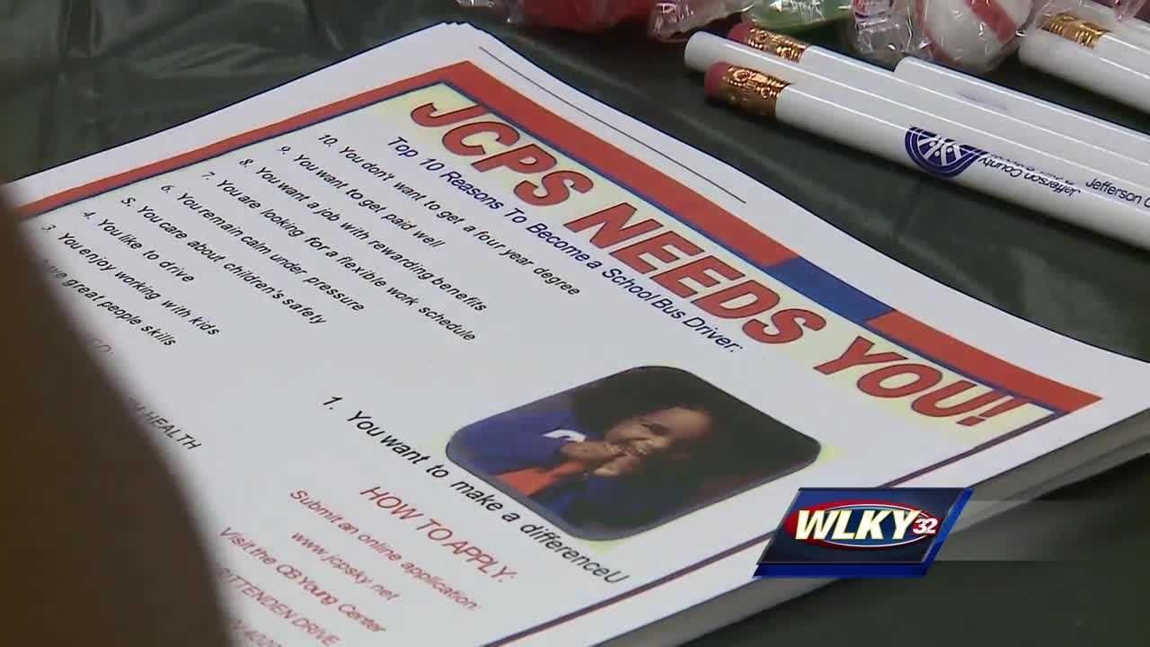 Jefferson County Public Schools hosted a job fair Thursday to recruit bus drivers to make up for a shortage.