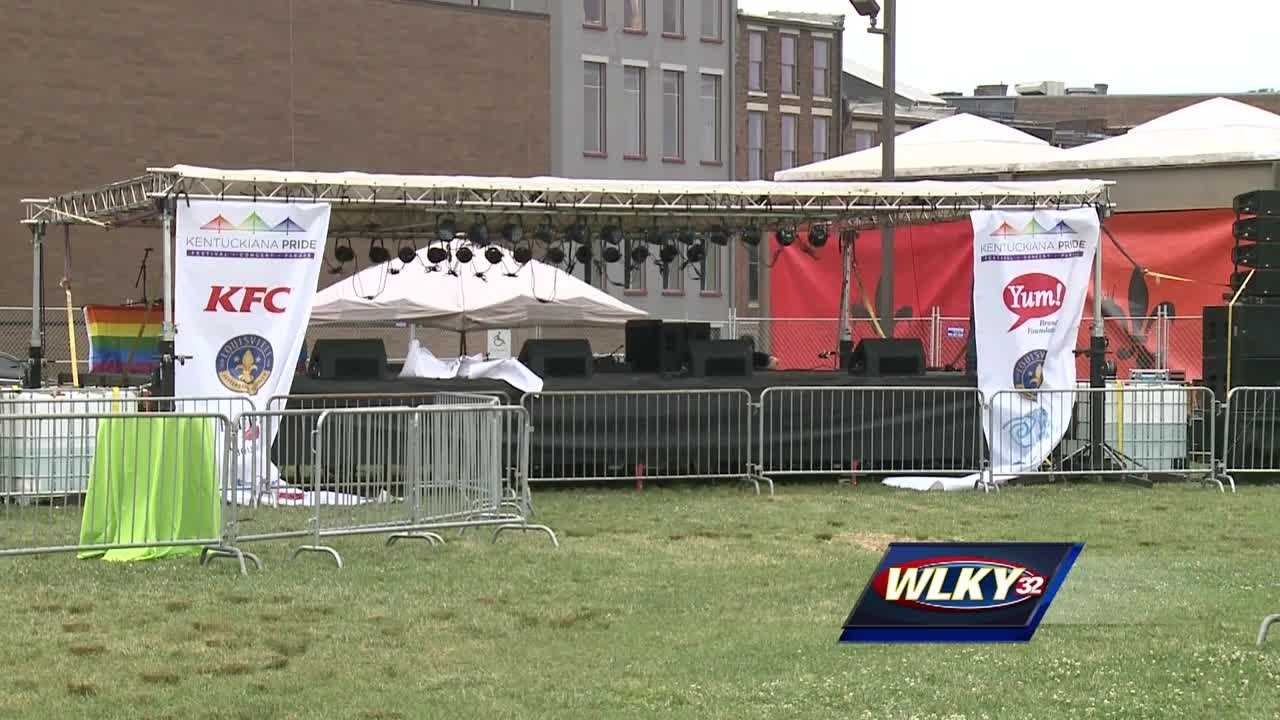 Organizers are expecting a record turnout for The Kentuckiana Pride Festival on the Belvedere, which begins at 7 p.m. and lasts through Saturday.